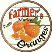 Farmers Market Oranges Wholesale Novelty Metal Circular Sign