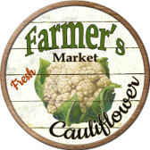 Farmers Market Cauliflower Novelty Metal Circular Sign Wholesale