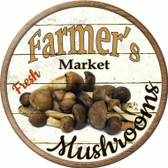 Farmers Market Mushrooms Wholesale Novelty Metal Circular Sign