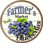 Farmers Market Blueberries Wholesale Novelty Metal Circular Sign