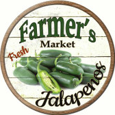 Farmers Market Jalapenos Wholesale Novelty Metal Circular Sign