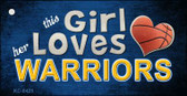 This Girl Loves Her Warriors Wholesale Novelty Key Chain