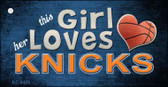 This Girl Loves Her Knicks Wholesale Novelty Key Chain