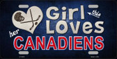 This Girl Loves Her Canadiens Novelty Wholesale Metal License Plate