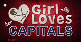 This Girl Loves Her Capitals Wholesale Novelty Key Chain