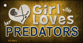 This Girl Loves Her Predators Wholesale Novelty Key Chain