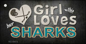 This Girl Loves Her Sharks Wholesale Novelty Key Chain