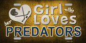 This Girl Loves Her Predators Novelty Wholesale Metal License Plate