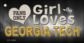 This Girl Loves Georgia Tech Wholesale Novelty Key Chain