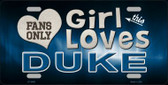 This Girl Loves Duke Novelty Wholesale Metal License Plate