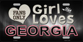 This Girl Loves Georgia Novelty Wholesale Metal License Plate