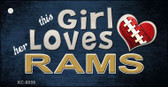 This Girl Loves Her Rams Wholesale Novelty Key Chain