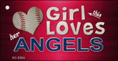 This Girl Loves Her Angels Wholesale Novelty Key Chain