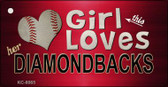 This Girl Loves Her Diamondbacks Wholesale Novelty Key Chain