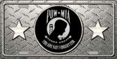 POW MIA Diamond Wholesale Metal Novelty License Plate