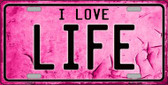 I Love Life Wholesale Metal Novelty License Plate