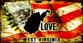 West Virginia Love Wholesale Novelty Key Chain