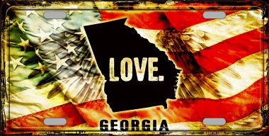Georgia Love Wholesale Metal Novelty License Plate