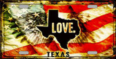 Texas Love Wholesale Metal Novelty License Plate