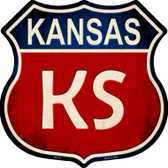 Kansas Wholesale Metal Novelty Highway Shield