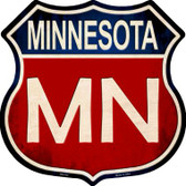 Minnesota Wholesale Metal Novelty Highway Shield