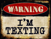 Im Texting Wholesale Metal Novelty Parking Sign