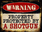 A Shotgun Wholesale Metal Novelty Parking Sign
