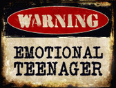 Emotional Teenager Wholesale Metal Novelty Parking Sign
