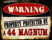 44 Magnum Wholesale Metal Novelty Parking Sign