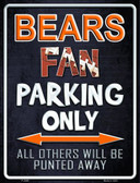 Bears Wholesale Metal Novelty Parking Sign