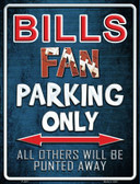 Bills Wholesale Metal Novelty Parking Sign