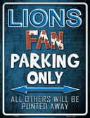 Lions Wholesale Metal Novelty Parking Sign