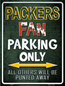 Packers Wholesale Metal Novelty Parking Sign