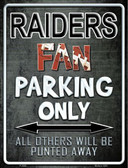 Raiders Wholesale Metal Novelty Parking Sign