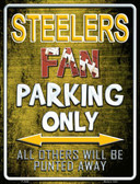 Steelers Wholesale Metal Novelty Parking Sign
