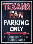Texans Wholesale Metal Novelty Parking Sign