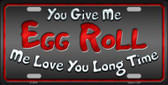 Egg Roll Wholesale Metal Novelty License Plate