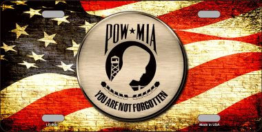 POW MIA With USA Flag Wholesale Metal Novelty License Plate