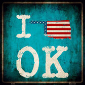 I Love Oklahoma Wholesale Novelty Metal Square Sign