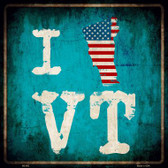 I Love Vermont Wholesale Novelty Metal Square Sign
