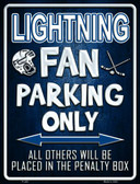 Lightning Wholesale Metal Novelty Parking Sign