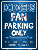 Dodgers Wholesale Metal Novelty Parking Sign