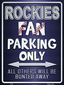 Rockies Wholesale Metal Novelty Parking Sign
