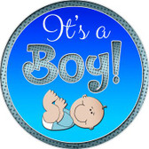 Its A Boy Wholesale Novelty Metal Circular Sign