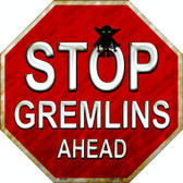 Stop Gremlins Ahead Wholesale Metal Novelty Stop Sign
