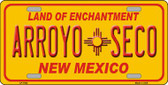 Arroyo Seco Yellow New Mexico Novelty Wholesale Metal License Plate LP-1942