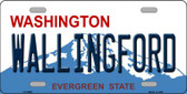Wallingford Washington Background Wholesale Metal Novelty License Plate