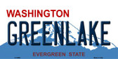 Greenlake Washington Background Wholesale Metal Novelty License Plate