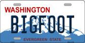 Big Foot Washington Background Wholesale Metal Novelty License Plate