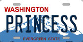 Princess Washington Background Wholesale Metal Novelty License Plate